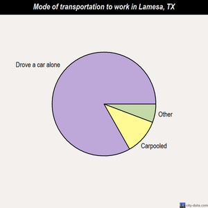 Lamesa mode of transportation to work chart