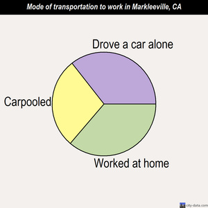 Markleeville mode of transportation to work chart