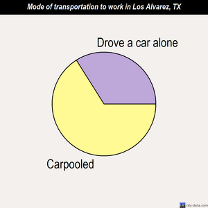Los Alvarez mode of transportation to work chart