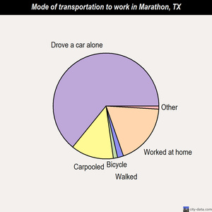 Marathon mode of transportation to work chart