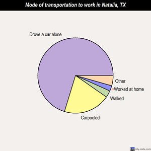 Natalia mode of transportation to work chart