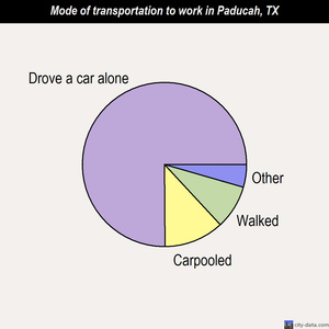 Paducah mode of transportation to work chart