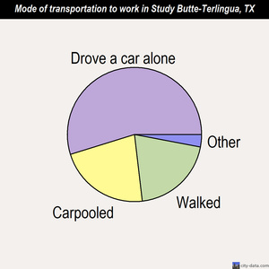 Study Butte-Terlingua mode of transportation to work chart