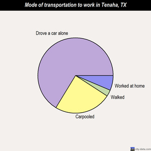 Tenaha mode of transportation to work chart