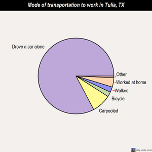 Tulia mode of transportation to work chart