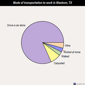 Waskom mode of transportation to work chart