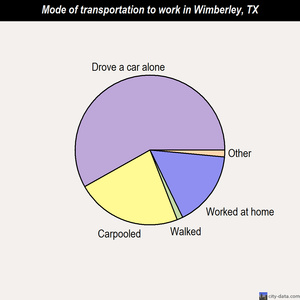 Wimberley mode of transportation to work chart