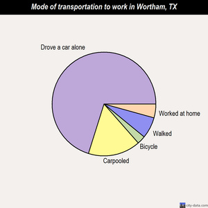 Wortham mode of transportation to work chart