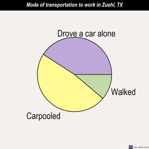 Zuehl mode of transportation to work chart