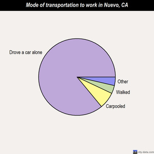 Nuevo mode of transportation to work chart