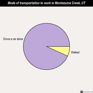 Montezuma Creek mode of transportation to work chart