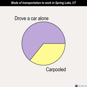 Spring Lake mode of transportation to work chart