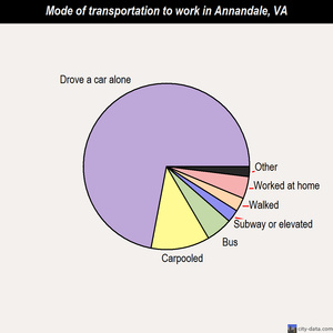 Annandale mode of transportation to work chart