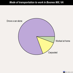 Boones Mill mode of transportation to work chart