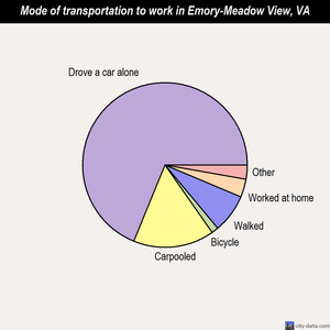 Emory-Meadow View mode of transportation to work chart