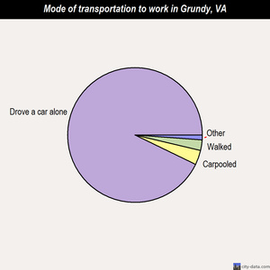 Grundy mode of transportation to work chart