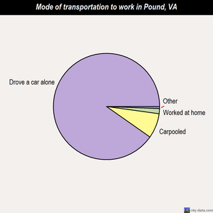 Pound mode of transportation to work chart