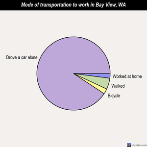 Bay View mode of transportation to work chart