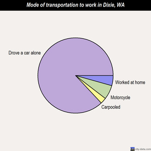 Dixie mode of transportation to work chart