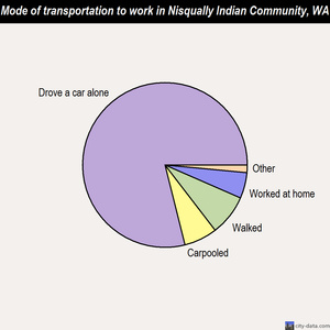 Nisqually Indian Community mode of transportation to work chart