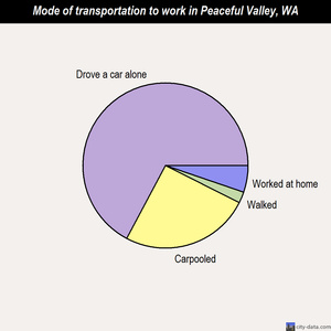 Peaceful Valley mode of transportation to work chart