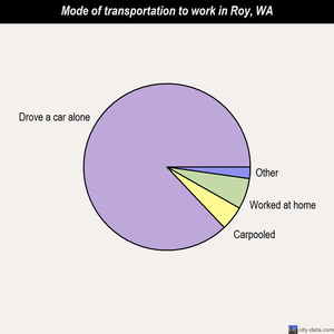 Roy mode of transportation to work chart