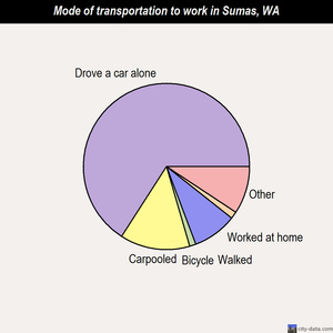 Sumas mode of transportation to work chart
