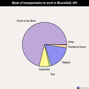 Moorefield mode of transportation to work chart
