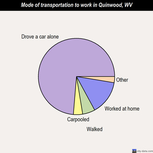 Quinwood mode of transportation to work chart