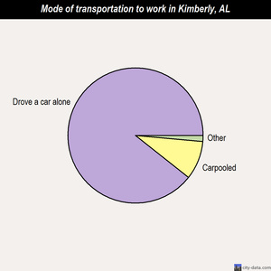 Kimberly mode of transportation to work chart