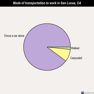 San Lucas mode of transportation to work chart