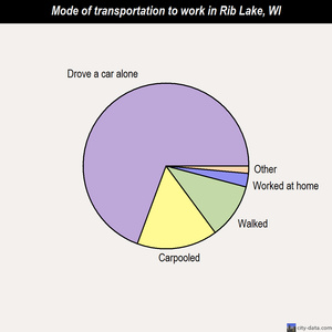Rib Lake mode of transportation to work chart