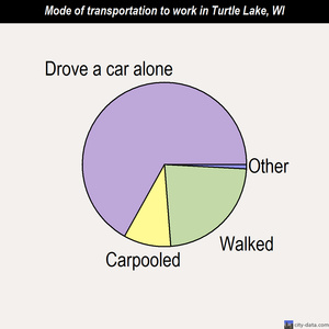 Turtle Lake mode of transportation to work chart