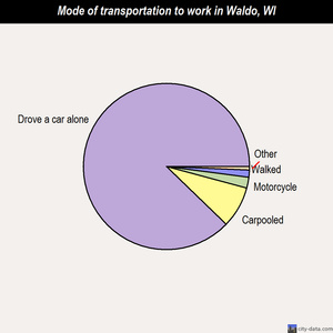 Waldo mode of transportation to work chart