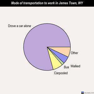 James Town mode of transportation to work chart