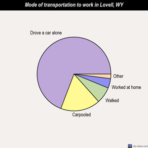 Lovell mode of transportation to work chart