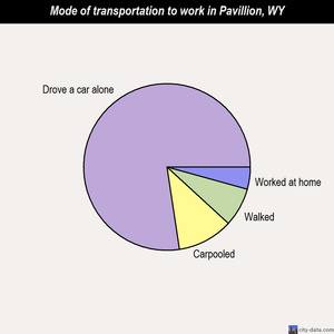 Pavillion mode of transportation to work chart