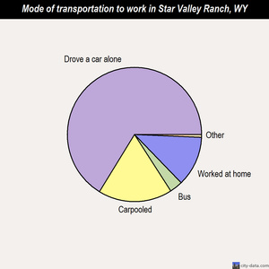 Star Valley Ranch mode of transportation to work chart
