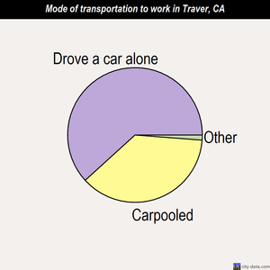Traver mode of transportation to work chart