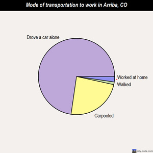 Arriba mode of transportation to work chart