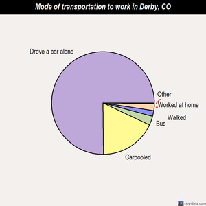 Derby mode of transportation to work chart