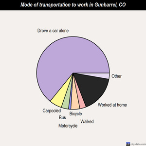 Gunbarrel mode of transportation to work chart