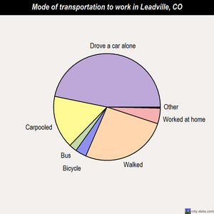 Leadville mode of transportation to work chart