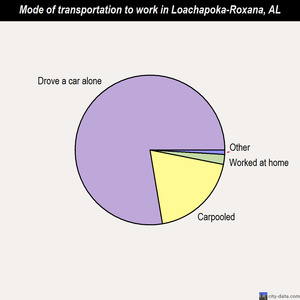 Loachapoka-Roxana mode of transportation to work chart