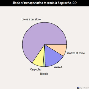 Saguache mode of transportation to work chart