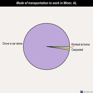 Minor mode of transportation to work chart