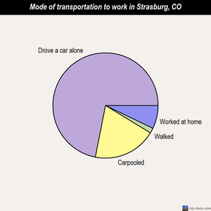 Strasburg mode of transportation to work chart