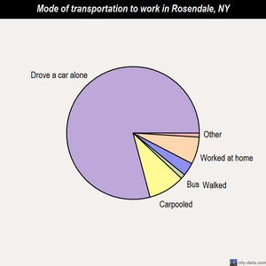 Rosendale mode of transportation to work chart