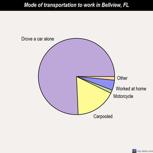 Bellview mode of transportation to work chart