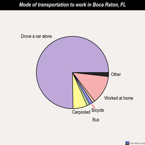 Boca Raton mode of transportation to work chart